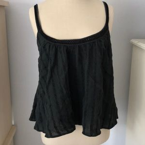 Black tank with open back